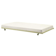 Twin size White Metal Trundle Bed with Casters Wheels for under Daybeds DUTW158189