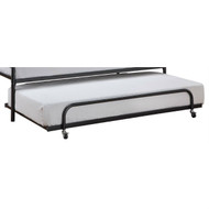 Twin size Roll Out Trundle Bed Frame in Black Metal TROTB75