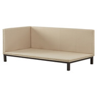 Tan Linen Fabric Upholstered Mid-Century Modern Daybed MCDB5619815