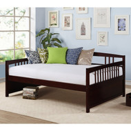 Full size Contemporary Daybed in Espresso Wood Finish FVDB518981