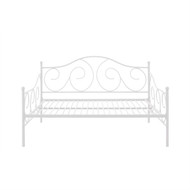 Full size Day Bed in Contemporary White Metal Finish FSWD5484584