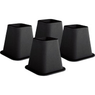 6-inch High Bed Risers in Black - 4-Pack T6IBBR4P