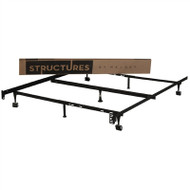 Heavy Duty Adjustable Metal Bed Frame Fits Twin Full and Queen ST5033BF-N