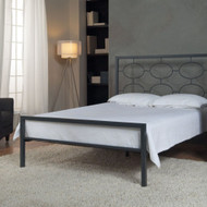 CA King size Metal Platform Bed in Graphite - No Box-spring Necessary EPBCAK339