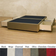 Full size Charcoal Microfiber Upholstered Platform Bed with 4 Storage Drawers FSCMPB581981