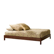 Full size Contemporary Platform Bed Frame in Mahogany Finish MPBFB179