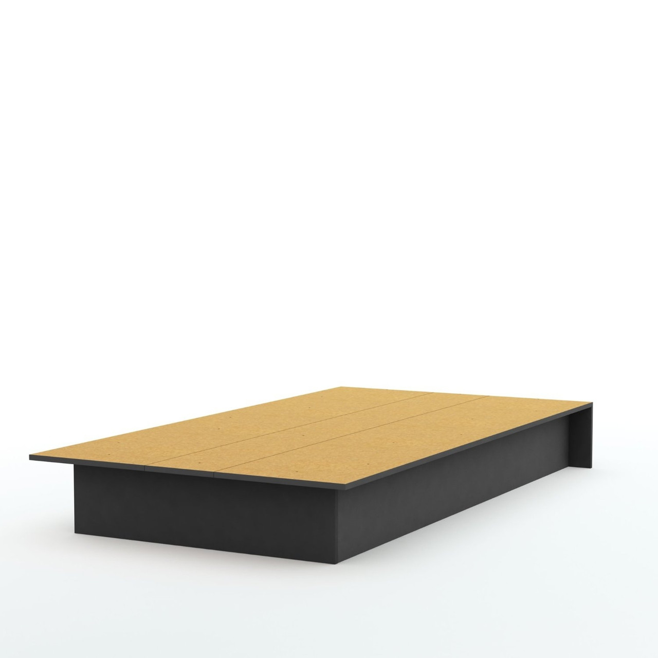 Twin platform bed frame in black wood finish for Black wood bed frame