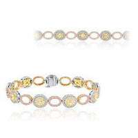 5.47 Fancy Tri-color Diamond Bracelet