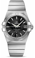Omega Constellation SS Black Dial Watch 123.10.38.21.01.001