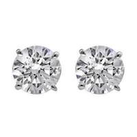 3.0 CTTW Diamond Stud Earrings (E/SI1 GIA Certified)