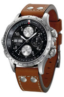Hamilton X-Wind chrono brown leather strap