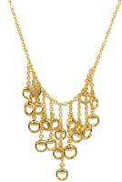 Gucci Horsebit Drops Necklace Gold L.45 cm