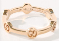 Gucci GG Love Ring Rose Gold Size 52