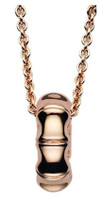 Gucci Bamboo Spring Necklace Rose Gold L.45 cm