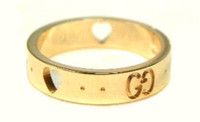 Gucci AMOR Ring Gold Size 52