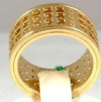 Gucci ROMAN Ring Gold Size 53