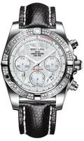 Breitling Chronomat 41 Steel Dia Bezel Lizard Tang AB0140AA/A746