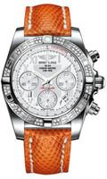 Breitling Chronomat 41 Steel Dia Bezel Lizard Tang AB0140AA/A747