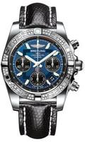Breitling Chronomat 41 Steel Dia Bezel Lizard Tang AB0140AA/C830