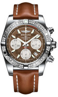 Breitling Chronomat 41 Steel Dia Bezel LeatherTang AB0140AA/Q583