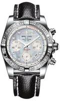 Breitling Chronomat 41 Steel Dia Bezel Lizard Tang B0140AA/G712
