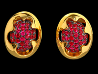 Mousson Atelier Caramel Collection Gold Ruby Earrings E0034-0/1