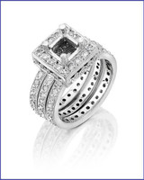 Gregorio Platinum Diamond Engagement Ring H-832