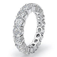 5 Carat F-g/vs Round Diamond Eternity Band In 18k Gold (5)