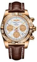 Breitling Chronomat 41 RG Dia Bezel Croco Strap Tang HB0140AA/A722