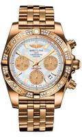 Breitling Chronomat 41 RG Dia Bezel Pilot Bracelet HB0140AA/A722