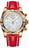 Breitling Chronomat 41 RG Dia Bezel Lizard Tang HB0140AA/A723