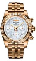 Breitling Chronomat 41 RG Dia Bezel Pilot Bracelet HB0140AA/A723
