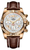 Breitling Chronomat 41 RG Dia Bezel Croco Strap Tang HB0140AA/A748