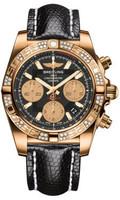 Breitling Chronomat 41 RG Dia Bezel Lizard Tang HB0140AA/BA53
