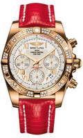 Breitling Chronomat 41 RG Dia Bezel Lizard Tang HB0140AA/G759