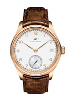 IWC Portuguese Manual Silver-Plated Dial 8 Days RG Watch IW510204