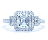 2.78 Cttw Asscher Diamond Ring