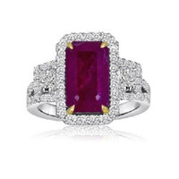 4.69ct Certified Natural Red Ruby & Diamond Ring