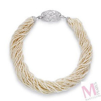 Mastoloni Signature Collection Ribbon Necklace N4042-8W