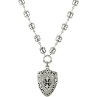 Fleur-de-Lis Design Fashion Necklace