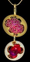 Mousson Atelier Caramel Collection Gold Tourmaline Pendant P0034-0/1