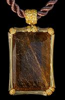 Mousson Atelier Wind Collection Gold Rutile Quartz Pendant P0036-0/5