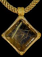 Mousson Atelier Wind Collection Gold Rutile Quartz Pendant P0036-0/7