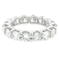 3.08ct 14k W/g Diamond Eternity Band Sz 4.5