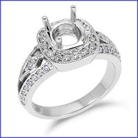 Gregorio 18K WG Diamond Engagement Ring R-1368