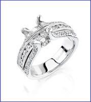 Gregorio 18K WG Diamond Engagement Ring R-1384A
