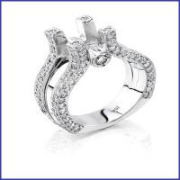 Gregorio 18K White Diamond Engagement Ring R-1389