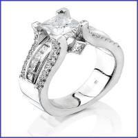 Gregorio 18K White Diamond Engagement Ring R-1390