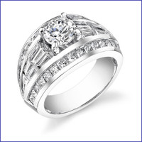 Gregorio 18K WG Diamond Engagement Ring R-153