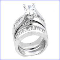 Gregorio 18K White Diamond Engagement Ring R-190
